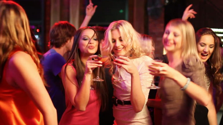 girls at a party
